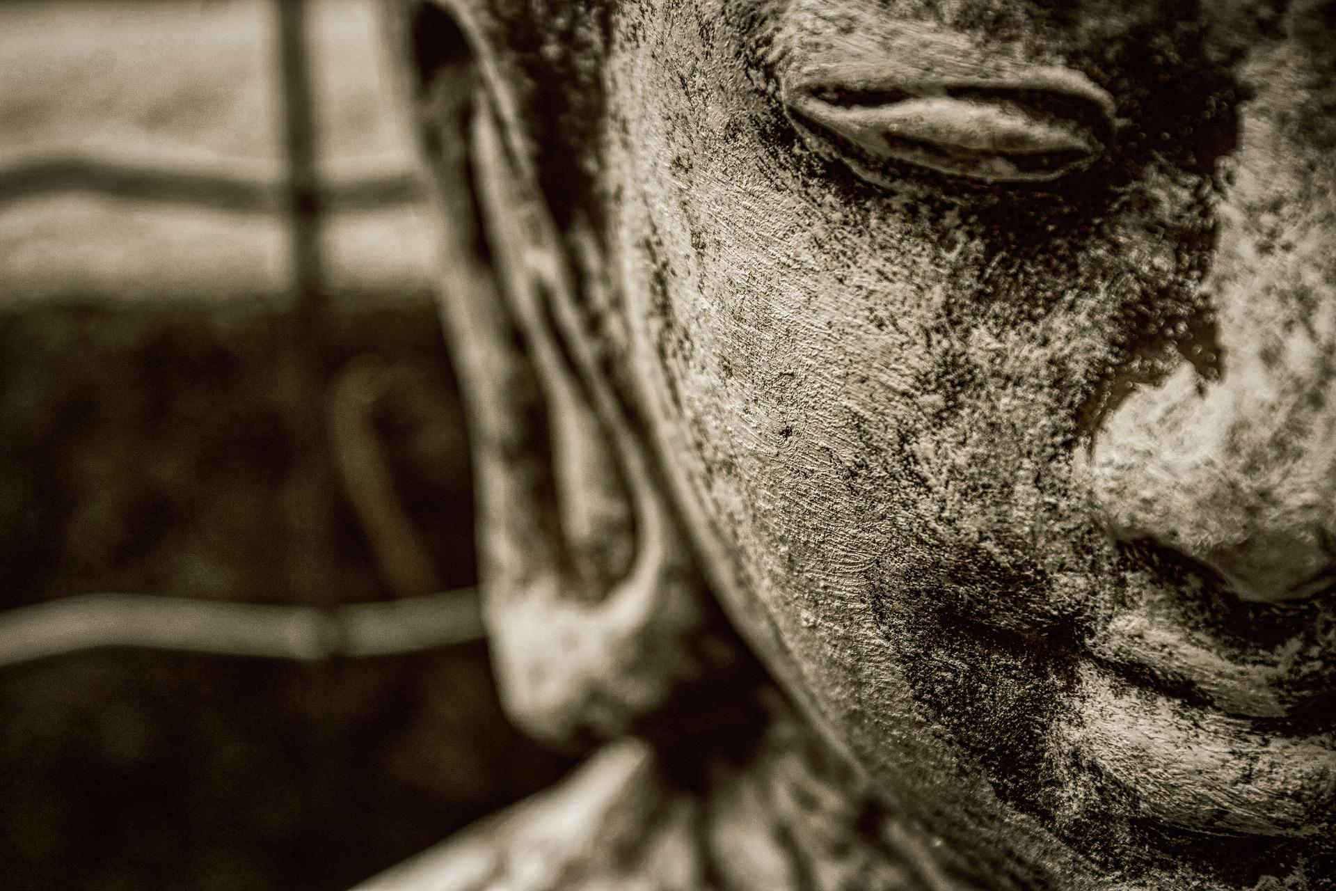 Buddha in deep Mantra Meditation