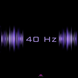 40 hz frequency in violet colors - cover of Gamma Brain Waves Meditation