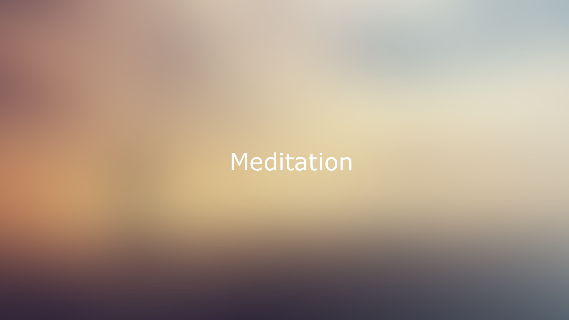 brownish background behind meditation text
