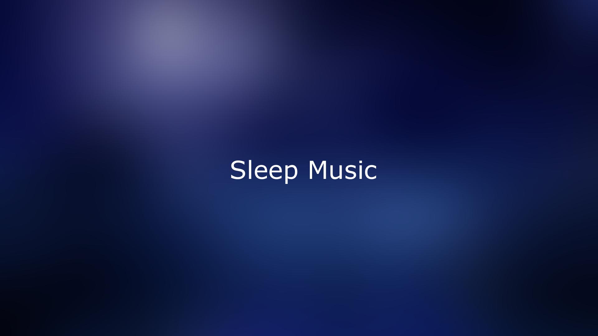 deep purple color behind sleep music text