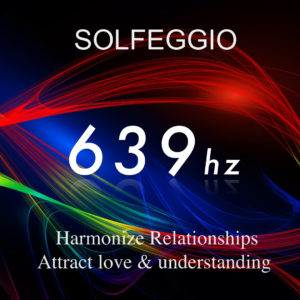 Waves and grid in many colors showing the Solfeggio 639 hz frequency