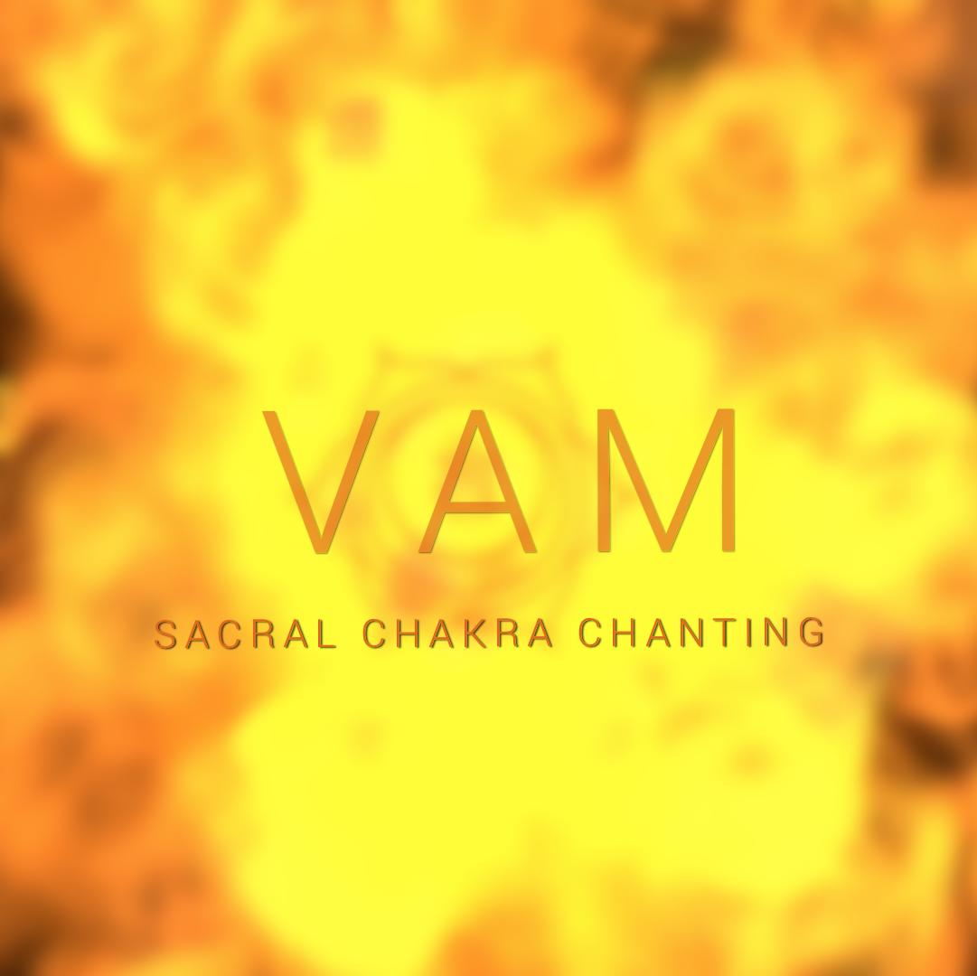 orange image illustrating vam mantra chakra chanting